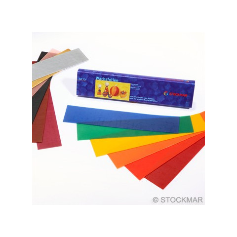 Cire à décorer, feuilles fines 12 couleurs de Stockmar, materiel creatif steiner waldorf