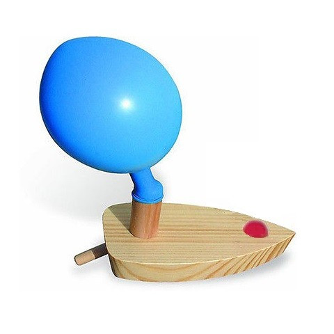 Bateau à ballon, propulsion à air