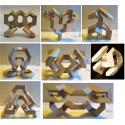 MathMaker, puzzle construction 3D en bois Math maker, jouet steiner waldorf