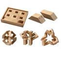 MathMaker, puzzle magnetique, jeu de construction 3D geométrique en bois Math maker