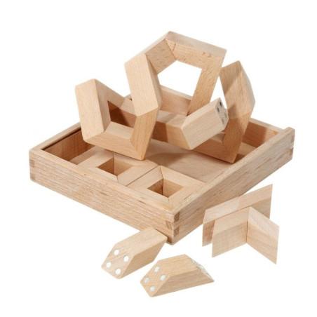 MathMaker, puzzle 3D geométrique en bois