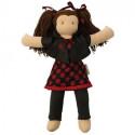 Jane Poupée waldorf 40 cm, coton bio, jouet naturel et ethique commerce equitable,Hoppa
