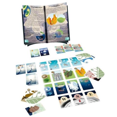 La glace et le ciel, jeu coopératif de sensibiliation à environnement, jeu ethique et français de Opla Jeux