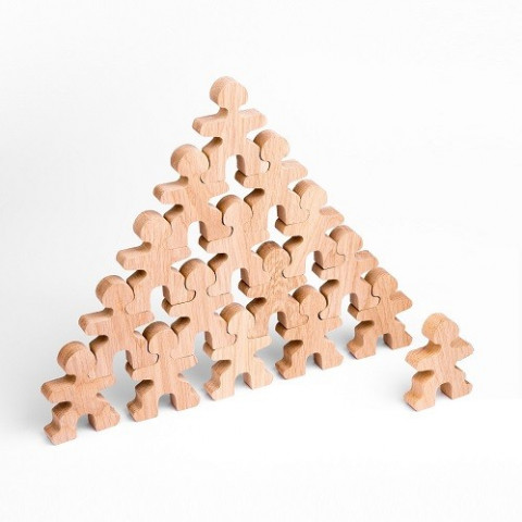 Flockmen, 16 figurines en bois