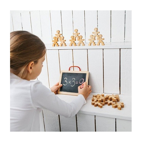 Flockmen, 32 bonhommes figurines en bois à assembler, jeu montessori et waldorf steiner