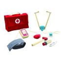 Valise de docteur,  avec stéthoscope et jouet en bois de plantoys