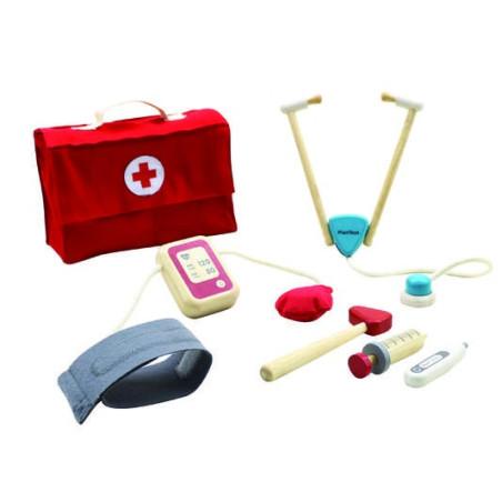 Valise de docteur, jouet en bois