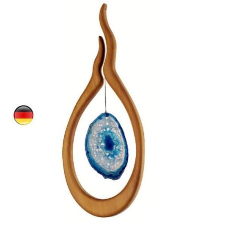 Mobile Agathe bleue et bois noble