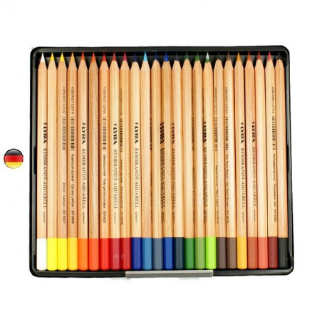 Crayons de couleur aquarelle Rembrandt x24 de  Lyra