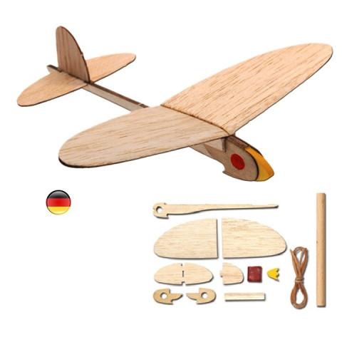Kit pour Avion planeur en balsa avec lanceur, maquette de kids at work, corvus