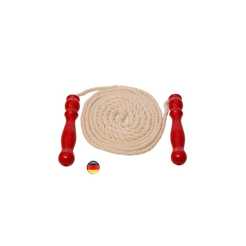 Corde à sauter naturelle, longue et renforcée de gluckskafer Nic, jouet steiner waldorf