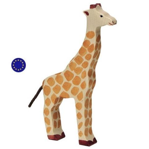 Figurine Girafe, animal jouet en bois steiner waldorf et montessori Holztiger