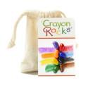 Crayon Rocks, 8 cailloux colorés, bloc de cire vegetale pour coloriage et dessin steiner waldorf et montessori