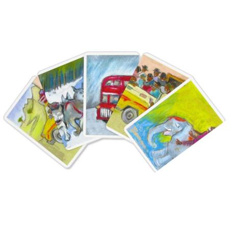 Voyage autour du monde, jeu de cartes d'association de jeux FK