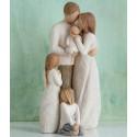 Statuette Joyfull child, fille joyeuse pour famille et fratrie Willow Tree