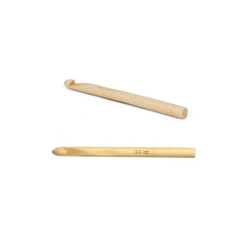 Crochet enfant 10mm en bambou, laine épaisse