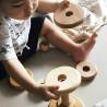 Tour à empiler, jouet d'éveil en bois naturel ecologique et ethiuque, steiner waldorf de wooden story