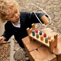 Jeu du marteau, banc cylindres à taper en bois, jouet montessori steiner de wooden sory