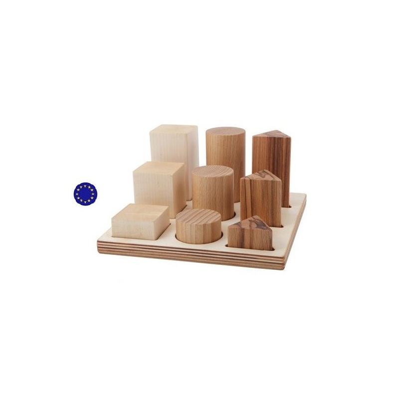 Puzzle des formes à encastrer, jouet en bois naturel steiner waldorf et montessori de wooden story