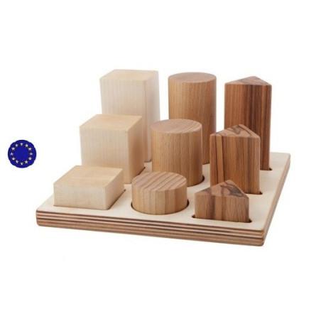 Escalier des formes à encastrer XL, naturel
