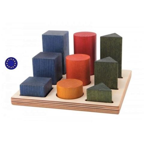 Puzzle des formes colorées à encastrer XL, rainbow, jouet en bois montessori wooden story