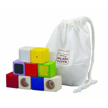 Blocs sensoriels en bois - Plan toys