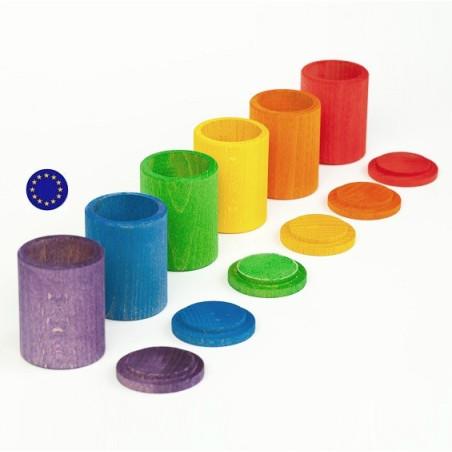 Pots à couvercle coloré, jouet Grapat