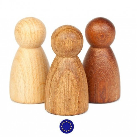 Nins®, 3 amis en bois variés
