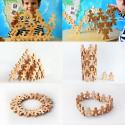 Flockmen, 100 figurines en bois à assembler, jeu montessori et waldorf steiner