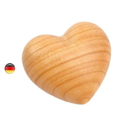 Coeur mini en bois, à offrir et caresser