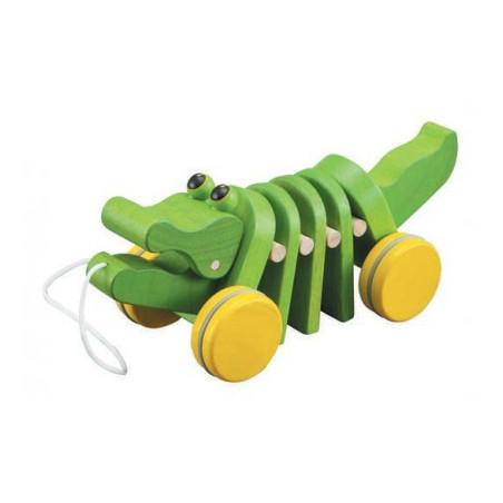 Alligator à tirer, jouet en bois Plan toys