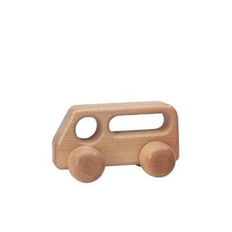 Bus à pousser en bois