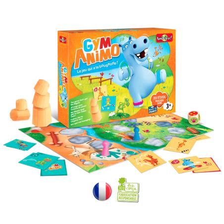 Gym'Animo, jeu de motricité et défis pour petits, jouete ecologique et ethique français de Bioviva