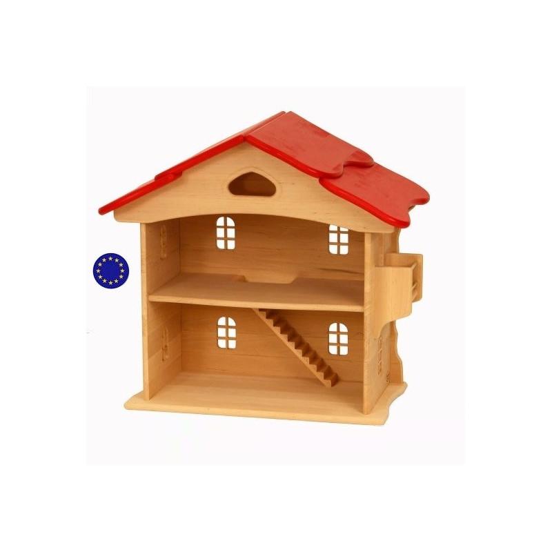 grande maison de poup e ou lutin jouet waldorf en bois massif huil. Black Bedroom Furniture Sets. Home Design Ideas