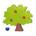 Arbre pommier, jouet en bois, décor steiner waldorf pour table de saison Holztiger ostheimer