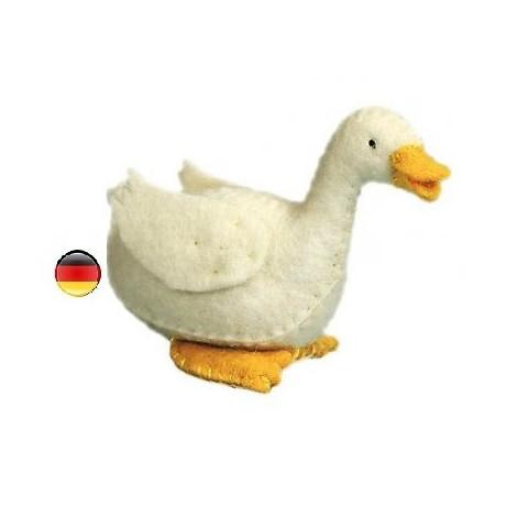 Canard, figurine animal en feutrine, jouet ecologique et ethique waldorf steiner de Gluckskafer
