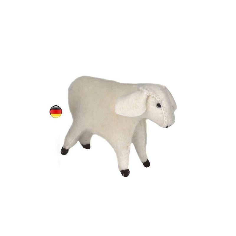 Mouton, brebis, figurine animal en feutrine, jouet ecologique, ethique waldorf steiner Gluckskafer