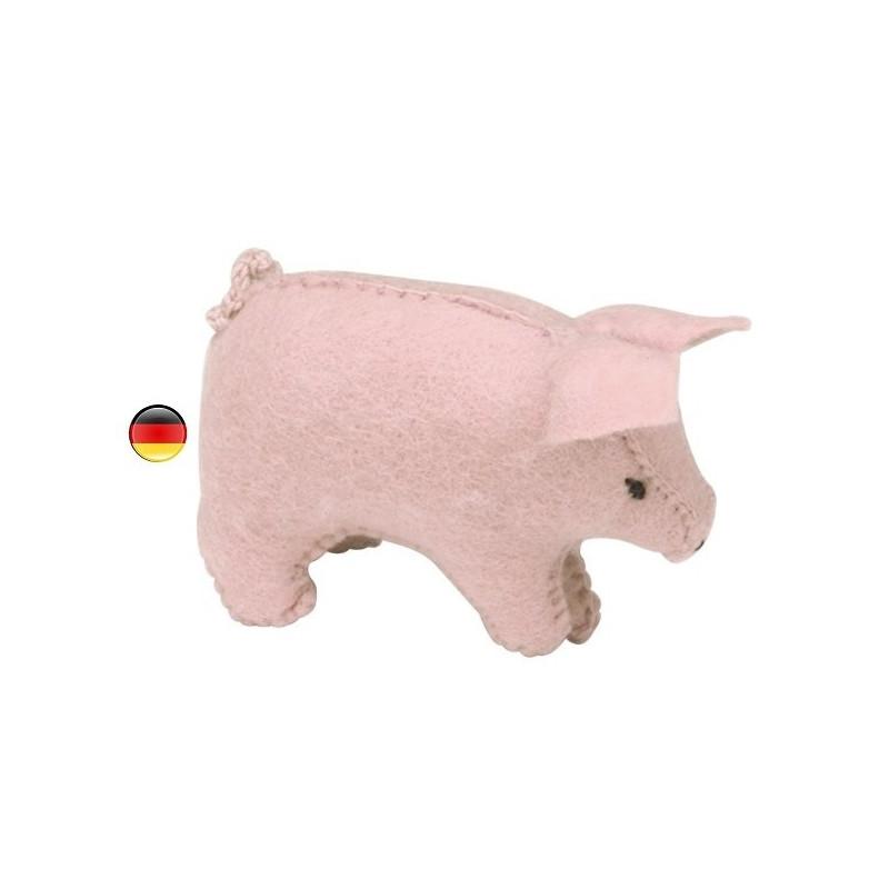 Cochon, figurine animal en feutrine, jouet ecologique, ethique waldorf steiner Gluckskafer