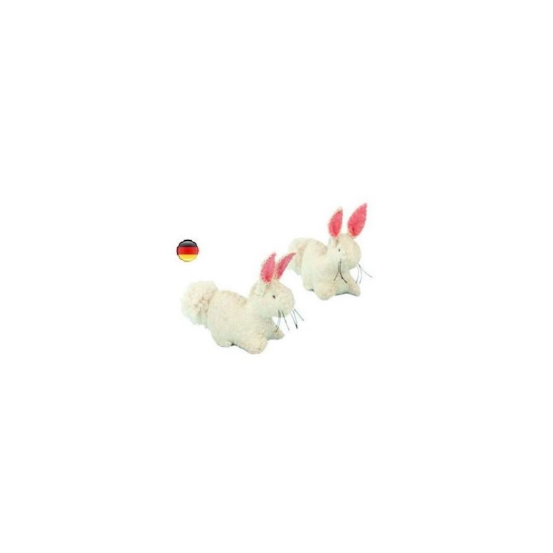Lapin, figurine animal en feutrine, jouet ecologique, ethique waldorf steiner Gluckskafer