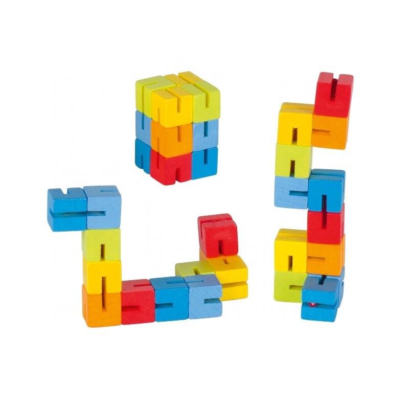Puzzle de poche en bois, petit jouet à manipuler en voyage de goki