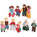 Poupée articulée mamie, mamy grand mère, mini poupée flexible waldorf Grimm's