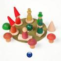 Nins® dans la forêt, amis des bois, jouet libre ecologique et ethique de grapat