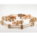 Figurine vache, animal, jouet en bois ostheimer steiner waldorf de atelier des peupliers