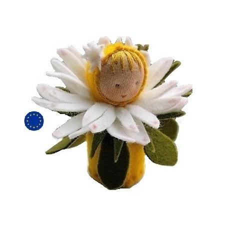 Kit poupée fleur paquerette, en feutrine