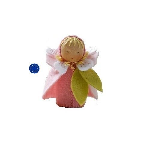 kit poupée fleur de cerisier, en feutrine pour table de saison steiner waldorf