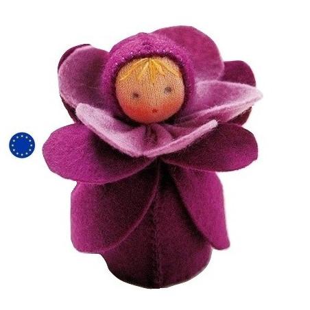 Kit poupée fleur violette, en feutrine