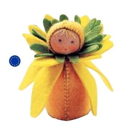 Kit poupée fleur narcisse, en feutrine