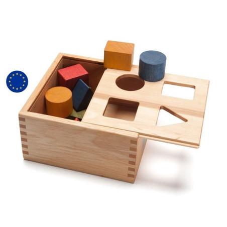 Boite à formes en bois coloré