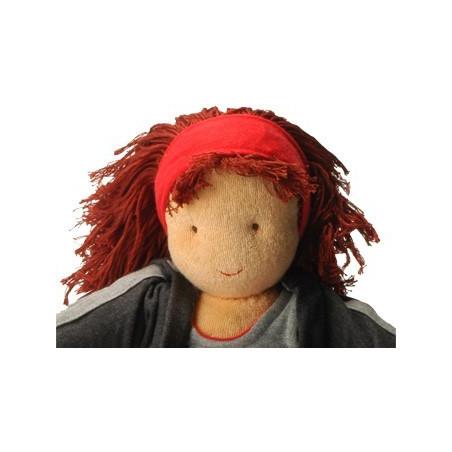 Anna, Poupée chiffon et tissu waldorf 40 cm, Peppa Hoppa