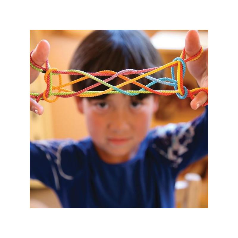 Cordelette pour jeux de ficelle, jeu de doigts de récréation traditionnel sarah silks
